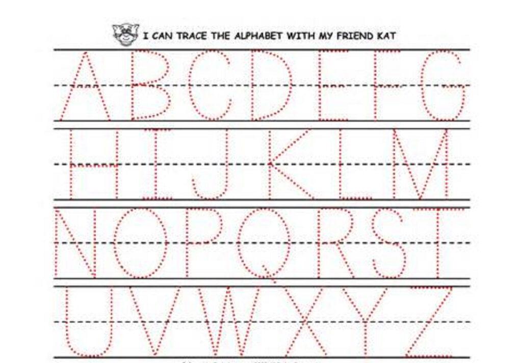 Worksheet ~ Alphabet Tracing Worksheets For Kindergarten Pdf