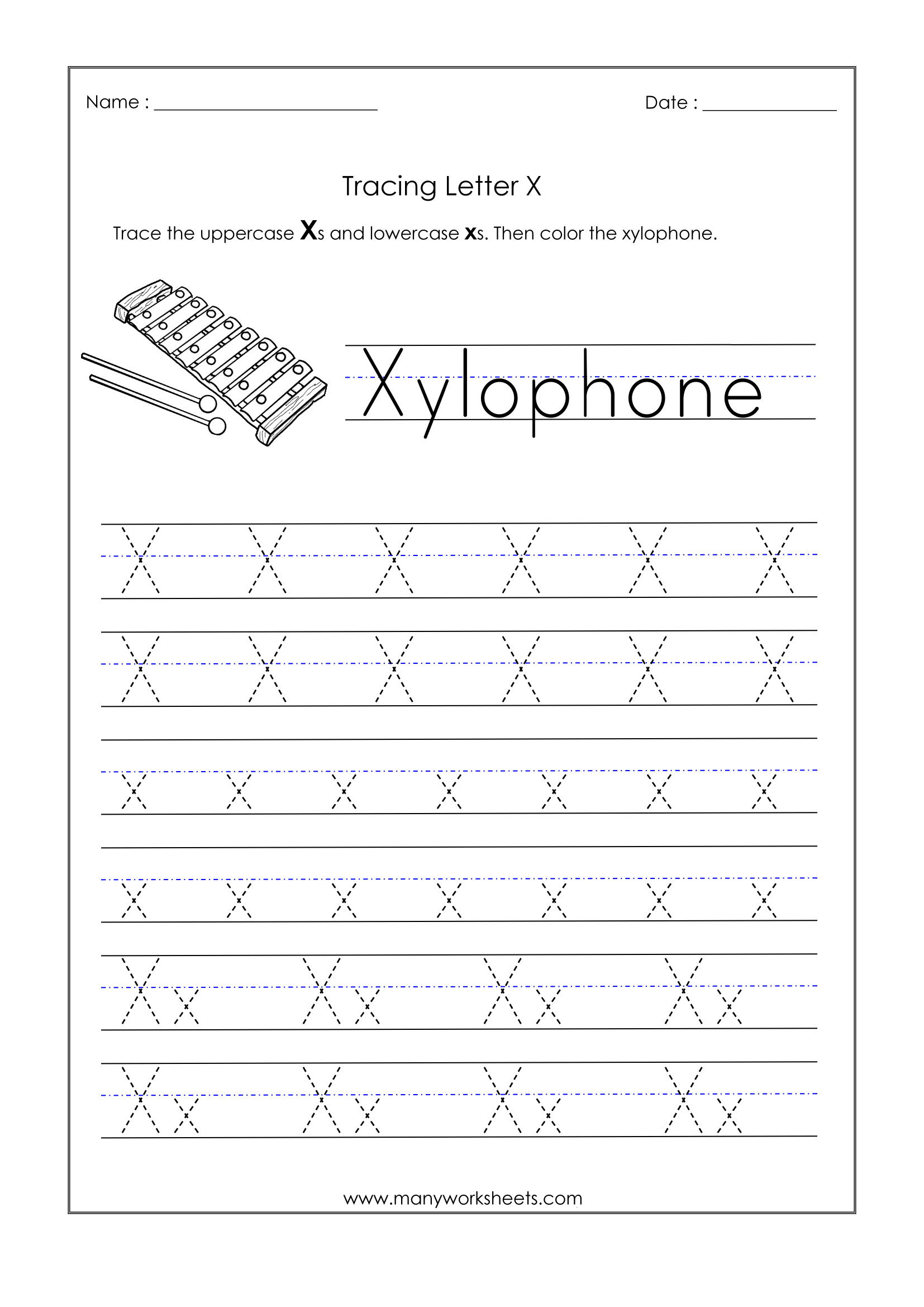 Worksheet ~ Alphabetiting Sheets Letter X Tracing Worksheet inside Letter Tracing X
