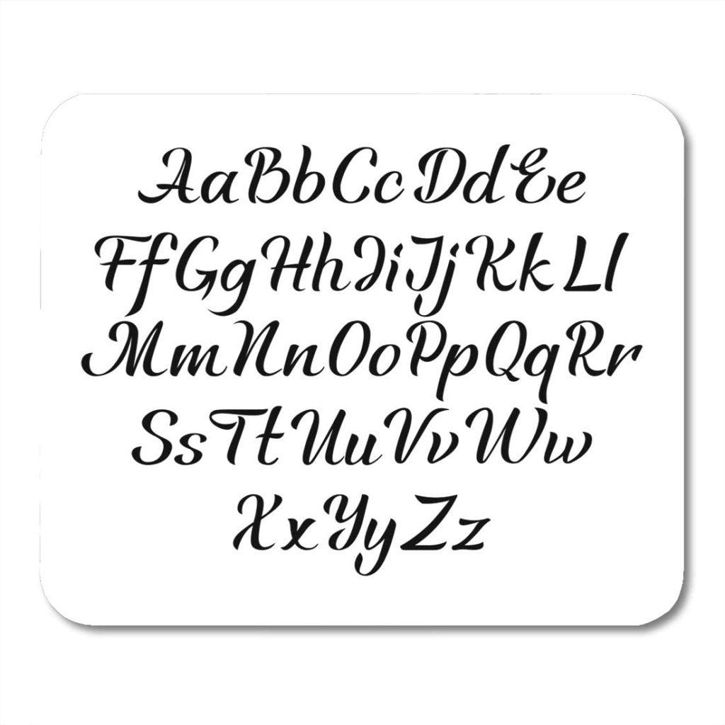 Worksheet ~ Amazon Com Emvency Mouse Pads Italic Black