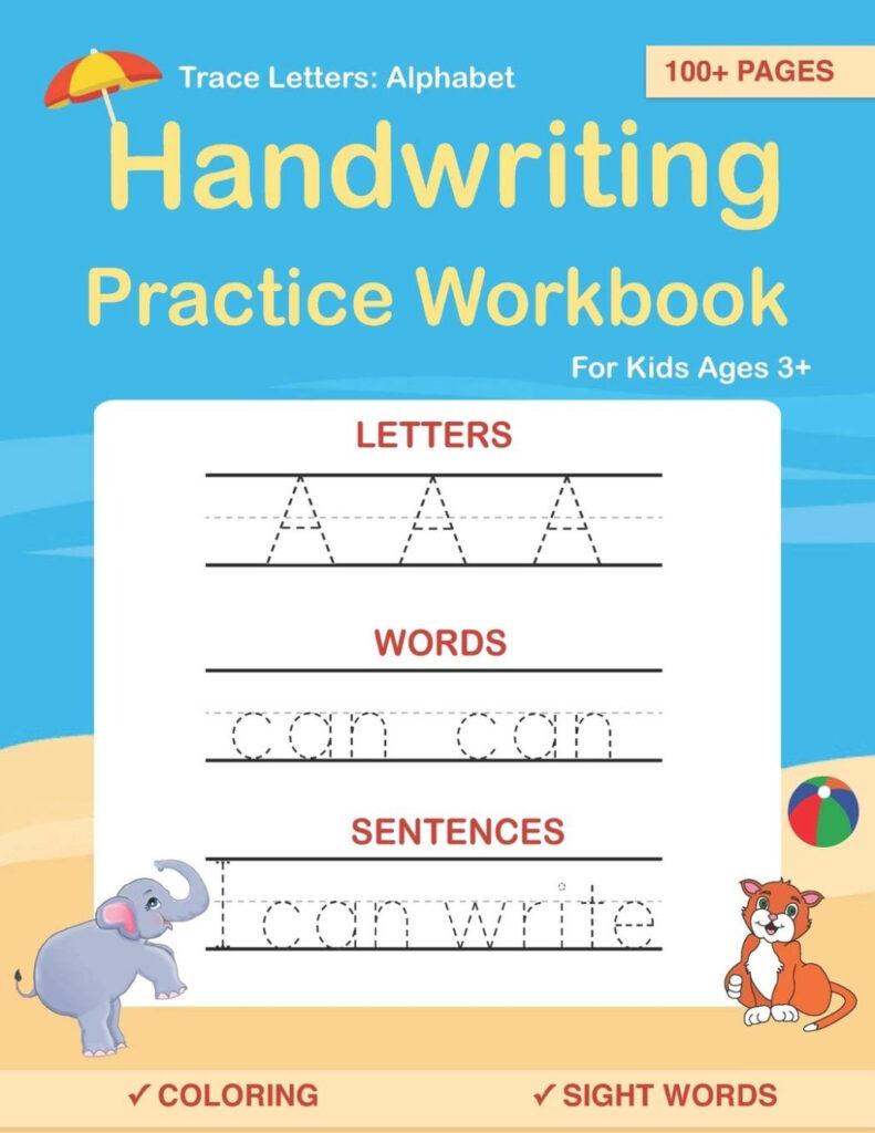 Worksheet ~ Amazon Com Trace Letters Alphabet