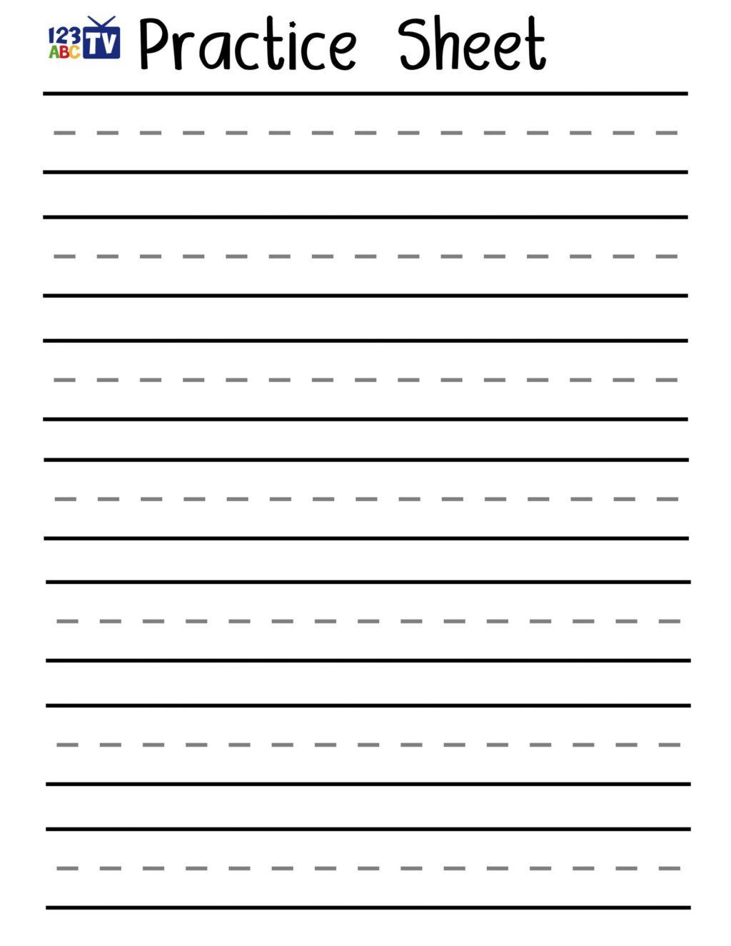 Worksheet ~ Blank Pageactice Handwriting Letter Downloads Tv