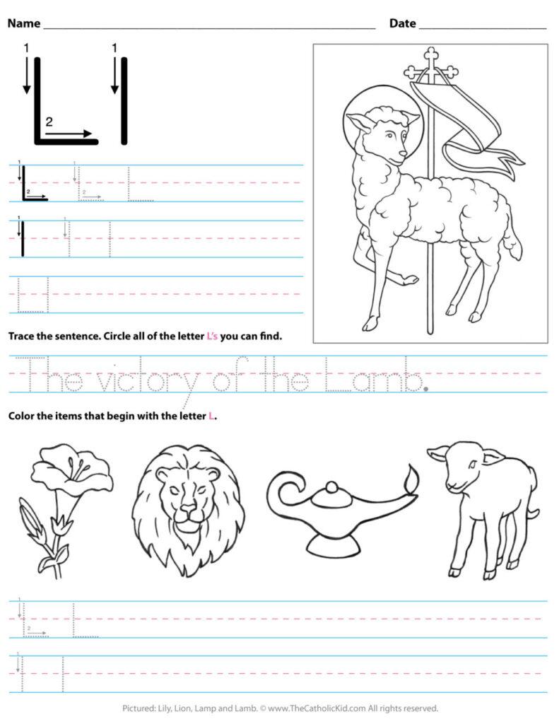 Worksheet ~ Catholic Alphabet Letter Lksheet Preschool Regarding Letter Ll Worksheets For Kindergarten