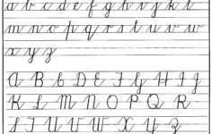 Cursive Alphabet For Kids
