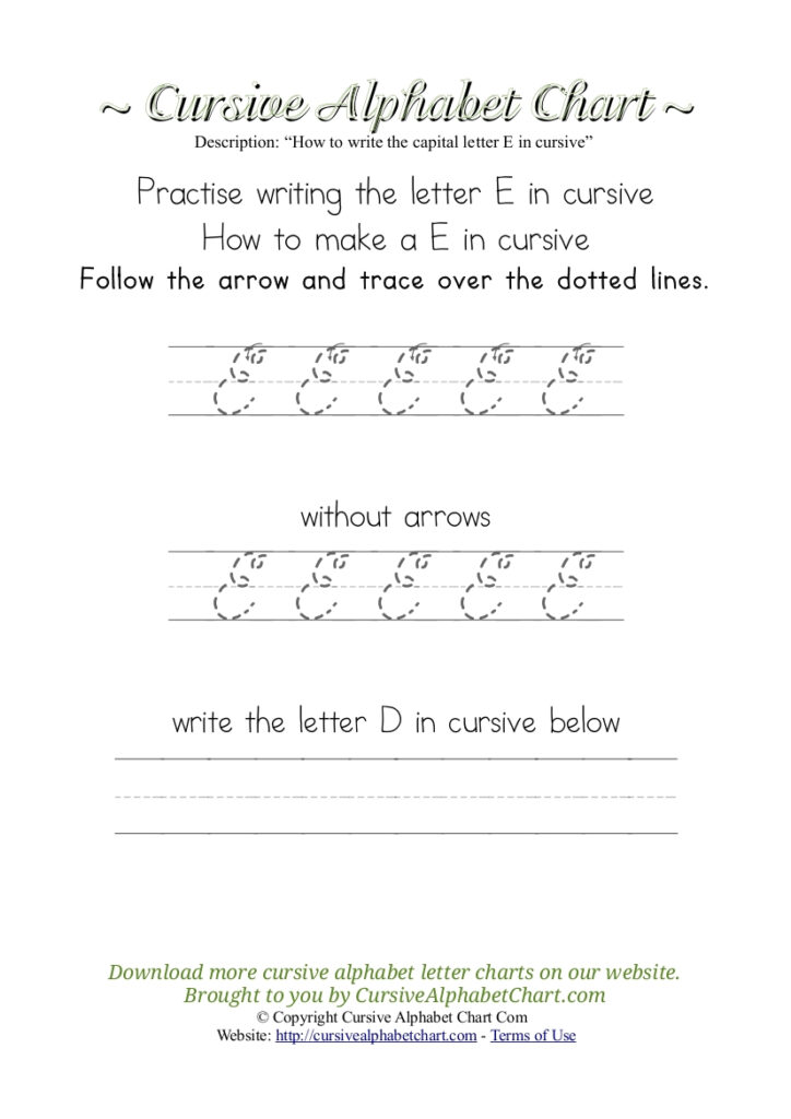 Worksheet ~ Cursive Alphabet Tracing Chartsor Kidsree