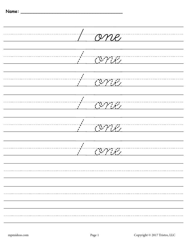 Worksheet ~ Cursive Handwriting Number Tracingts Supplyme