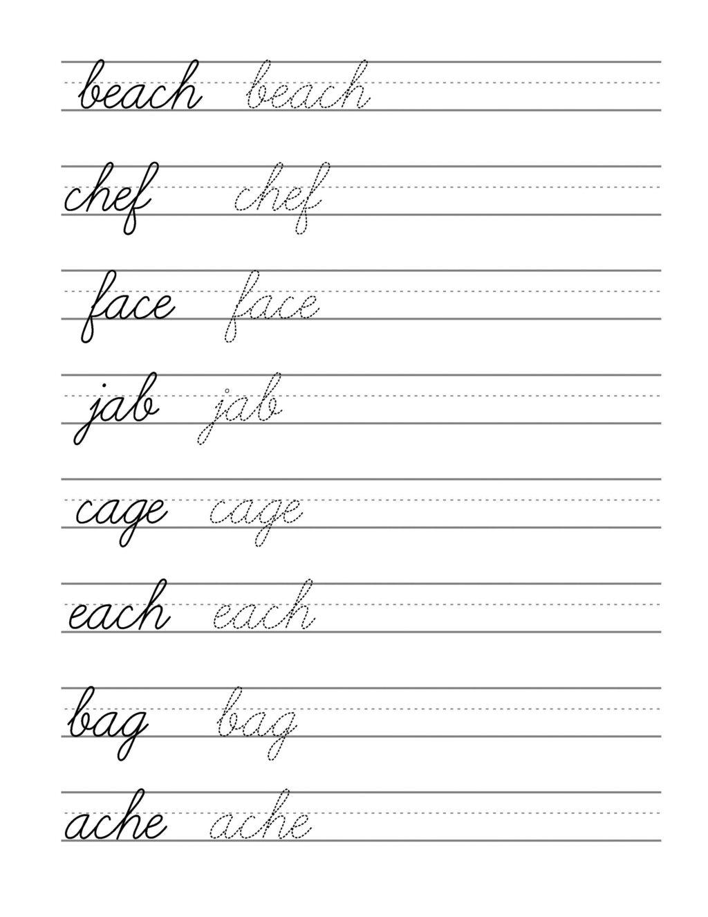 Worksheet ~ Cursive Writing Templates Barka Practice Online