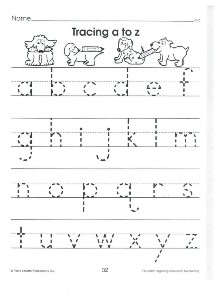 Worksheet ~ English Print To Z Lower Case Alphabet Tracing Within Alphabet Tracing Lowercase