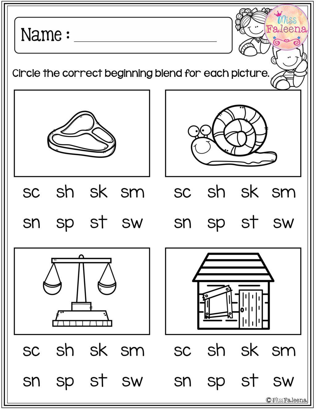 Worksheet ~ Free Beginning Blends Activities Worksheets regarding Alphabet Blends Worksheets