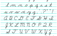 Cursive Alphabet Chart Printable