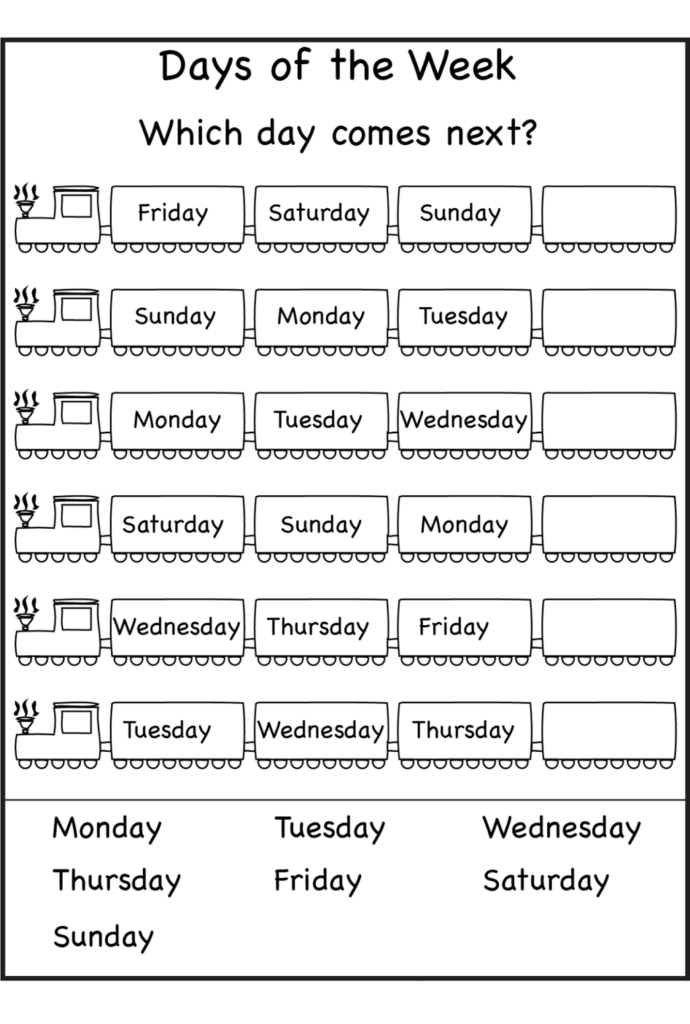 Worksheet ~ Free Days Of The Week Worksheets First Grade