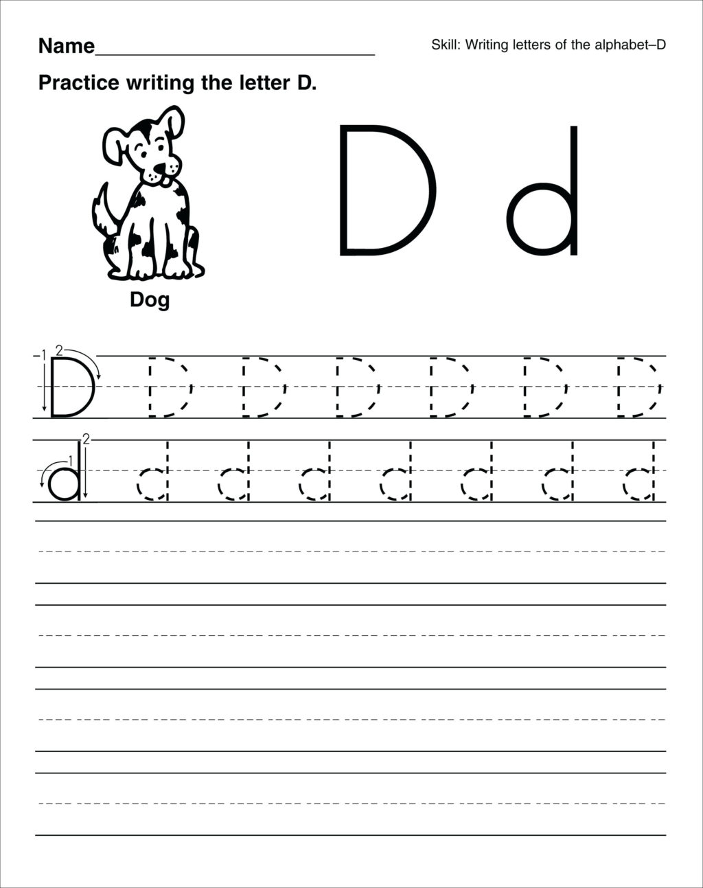 Worksheet ~ Free Handwriting Activity Sheets For Children pertaining to Letter D Worksheets For 2 Year Olds