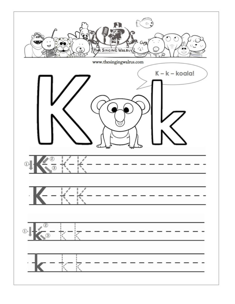 Worksheet ~ Free Printable Letter K Barka Preschool Inside K Letter Worksheets