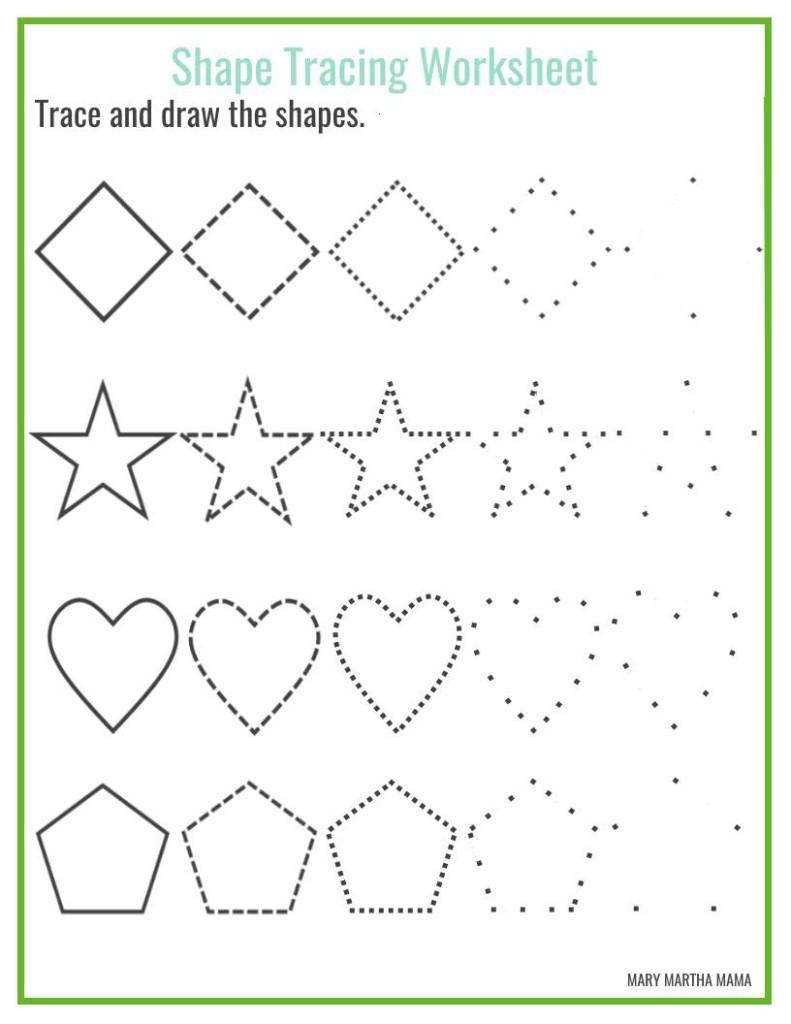 Worksheet ~ Free Tracing Worksheets For Preschoolers