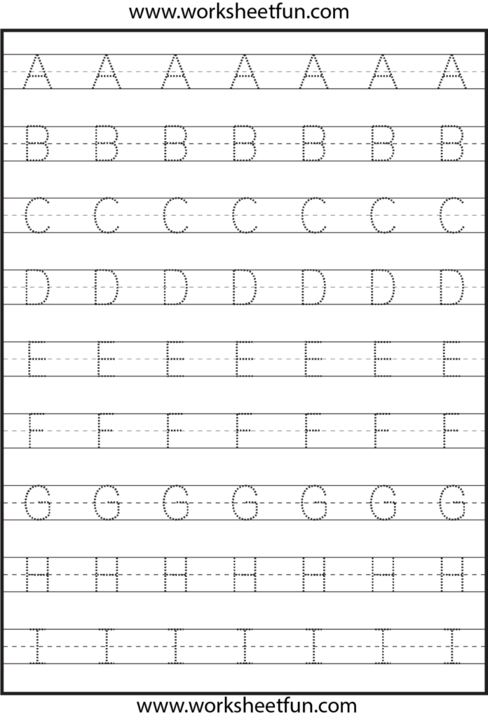 Worksheet ~ Funlettertracinga I Alphabet Tracing Worksheets Throughout Alphabet Tracing Worksheets Pdf