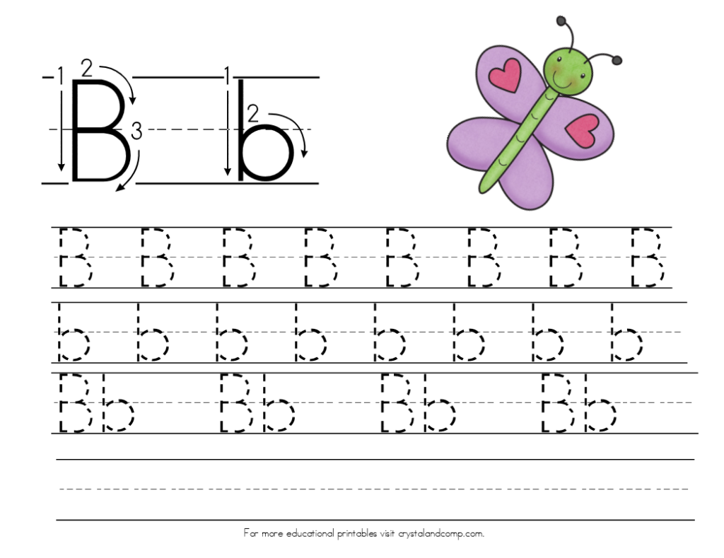 Worksheet ~ Handwriting Practice For Kids Is Butterfly Within Alphabet Tracing Maker