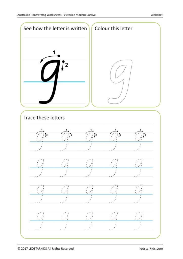 Worksheet ~ Handwriting Worksheetample Image Vic Lower G
