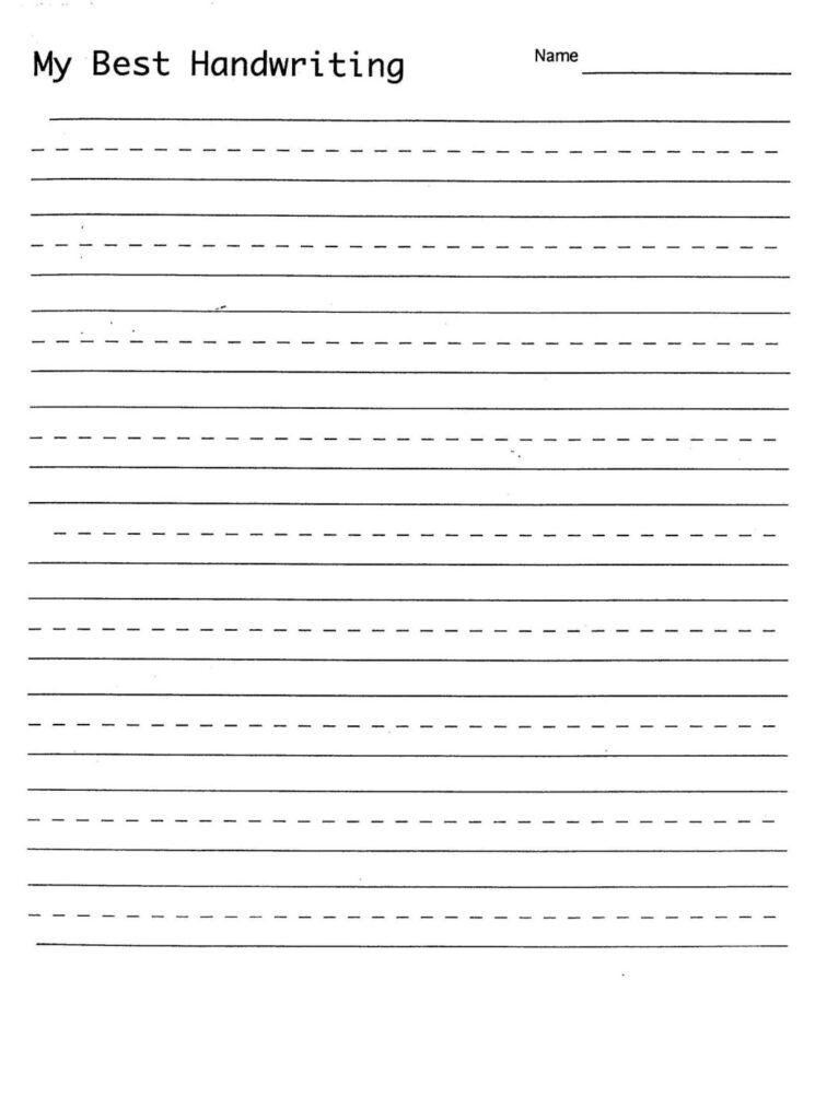 Worksheet ~ Handwritings For Kindergarten Names Printable With Regard To Name Tracing Worksheet With Blank Lines