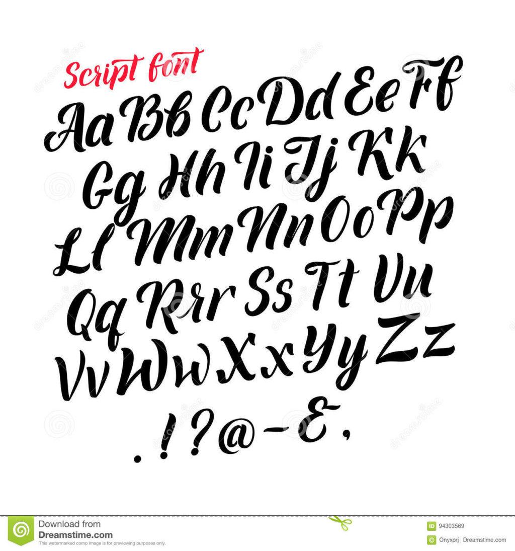 Worksheet ~ Handwritten Latin Alphabet Cursive Black Letters