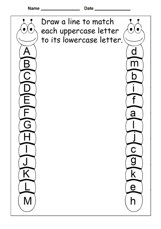 Worksheet ~ Kindergarten Worksheets Free Matching Alphabet regarding Alphabet Worksheets Tes