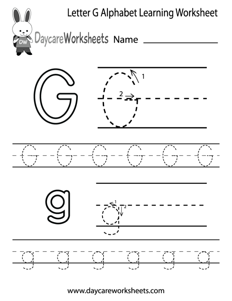Worksheet ~ Letter G Alphabet Learning Worksheet Printable In Letter G Tracing Printable