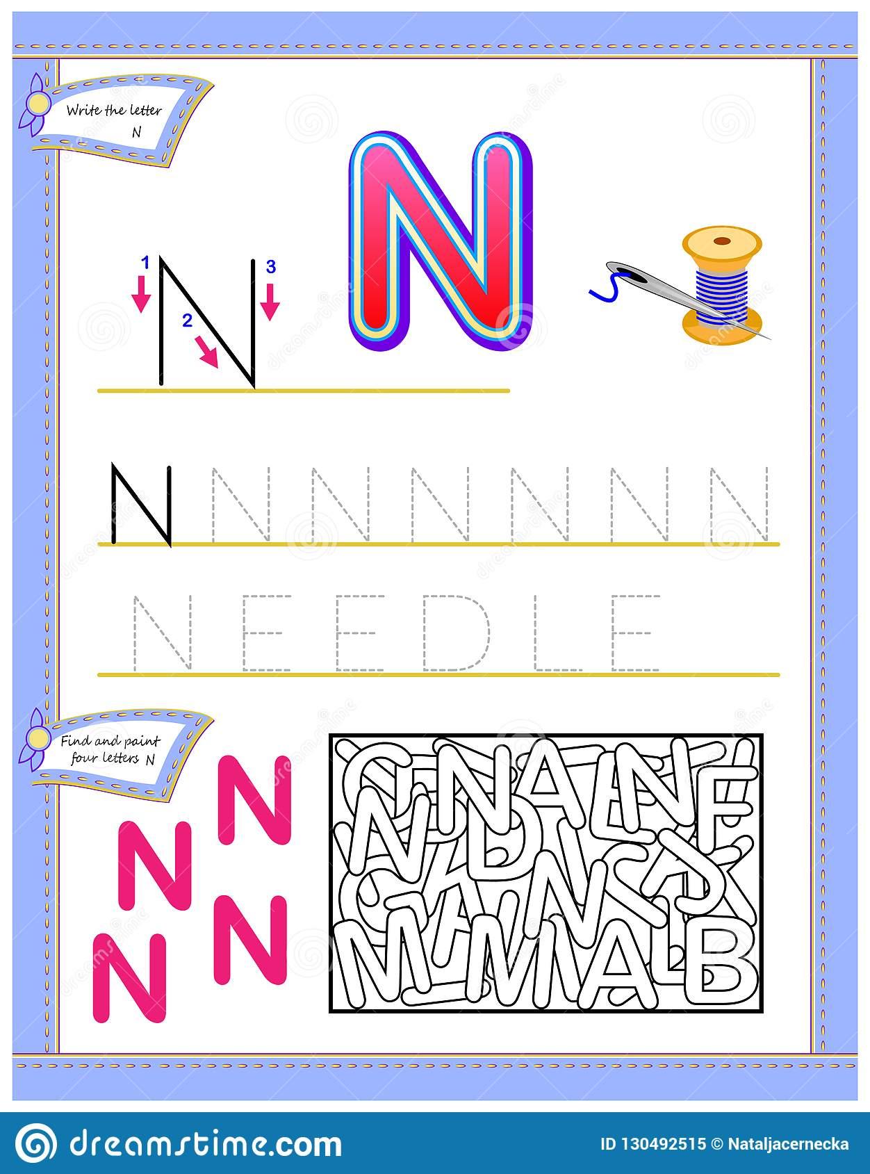 Worksheet Letter N Noodles | Printable Worksheets And throughout Letter N Worksheets Twisty Noodle