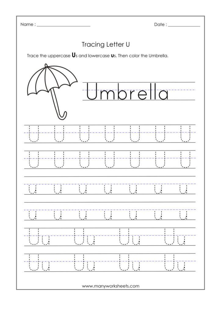 Worksheet ~ Letter U Worksheets For Kindergarten Trace For Letter U Tracing And Writing