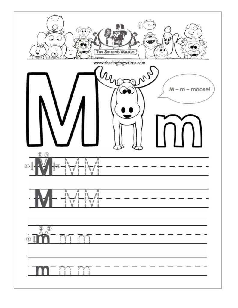 Worksheet ~ Letter Writing Worksheets Beautiful M Worksheet With Letter M Worksheets For Kindergarten Free