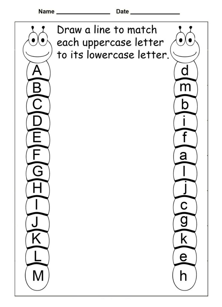Worksheet ~ Match Letters Alphabet Worksheet Worksheets Best Throughout Alphabet Worksheets Matching