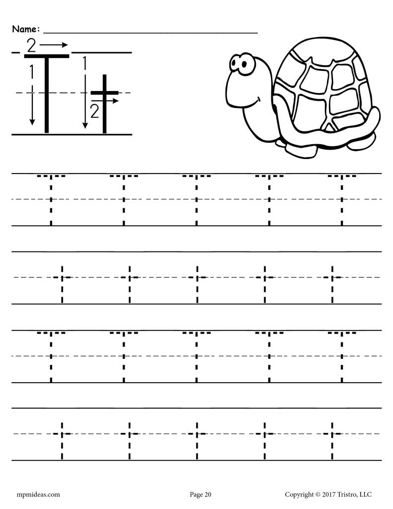 Worksheet ~ Name Tracing Worksheets Free Printable Letters with Letter T Tracing Sheet