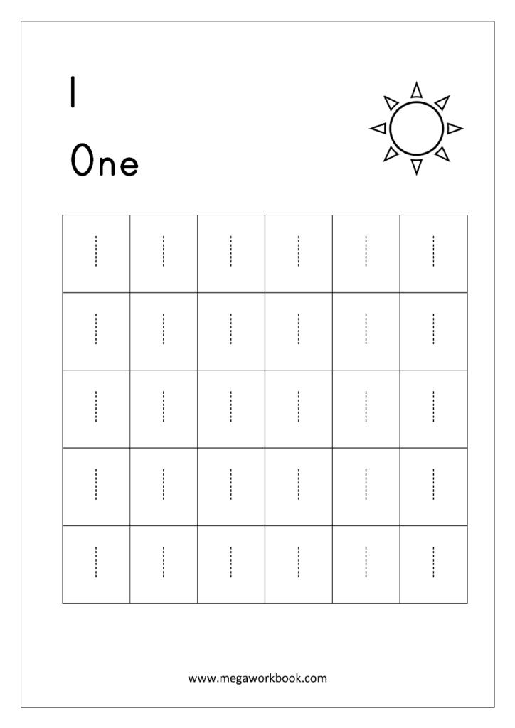 Worksheet ~ Number Tracing 1 Worksheet Number Tracing