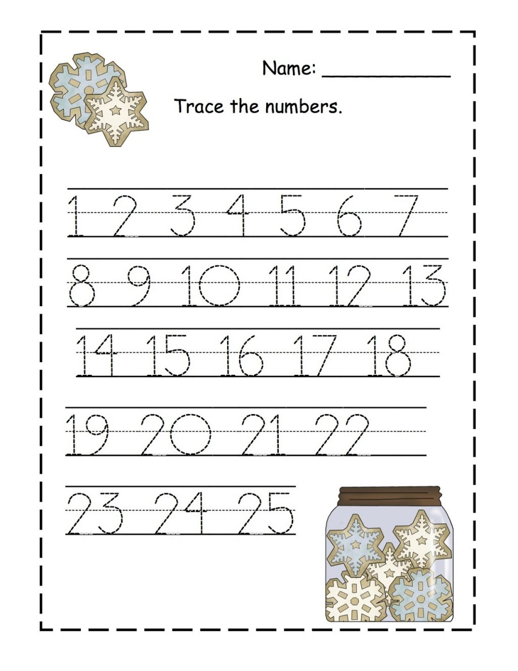 Worksheet ~ Number Tracing And Writing Worksheet For