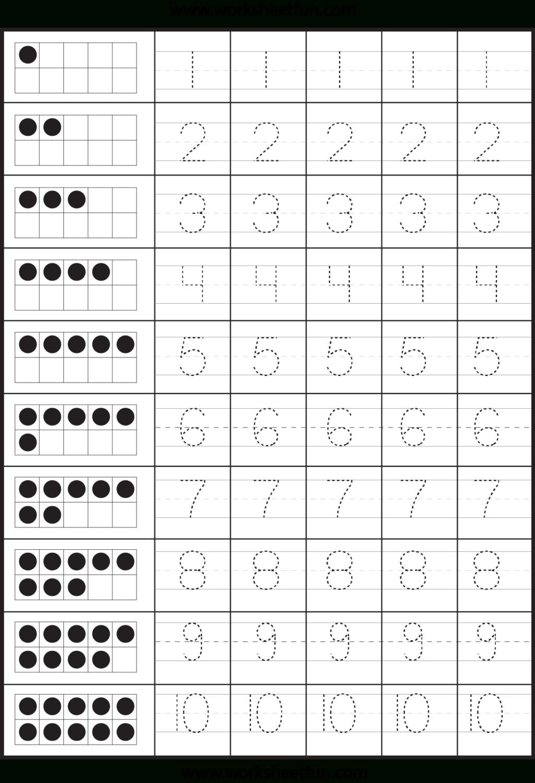 Worksheet ~ Number Tracing Worksheets Math Activities