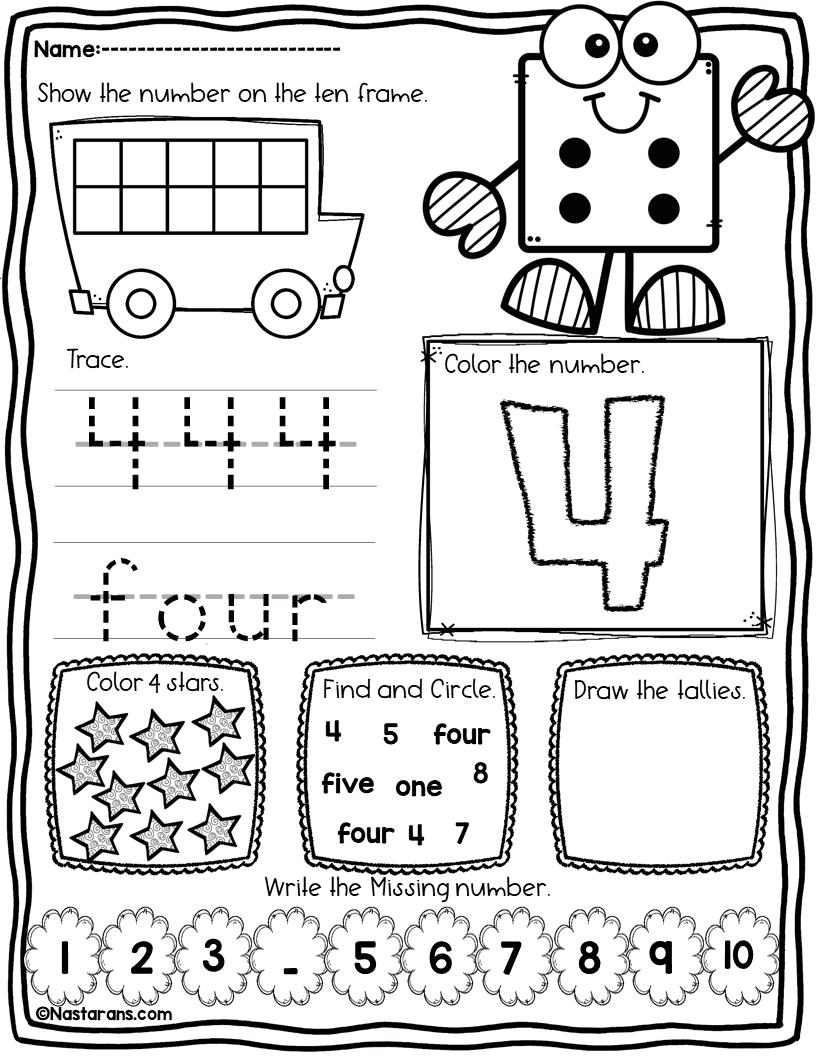 Worksheet ~ Numberksheets For Kindergartenksheet Numbers for Letter 10 Worksheets