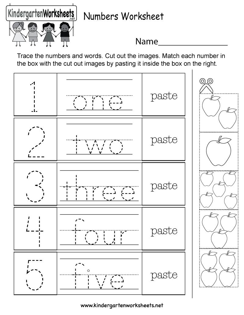 Worksheet ~ Numbers Worksheet Free Kindergarten Math For