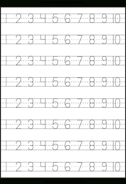 Worksheet ~ Numbertracingworksheetfun1 Worksheet Free