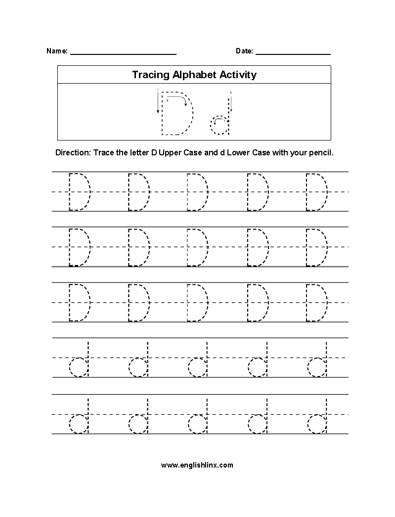 Worksheet ~ Outstanding Dotted Alphabet Worksheets Picture intended for Alphabet D Tracing