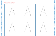 Tracing Letter Printable Worksheets