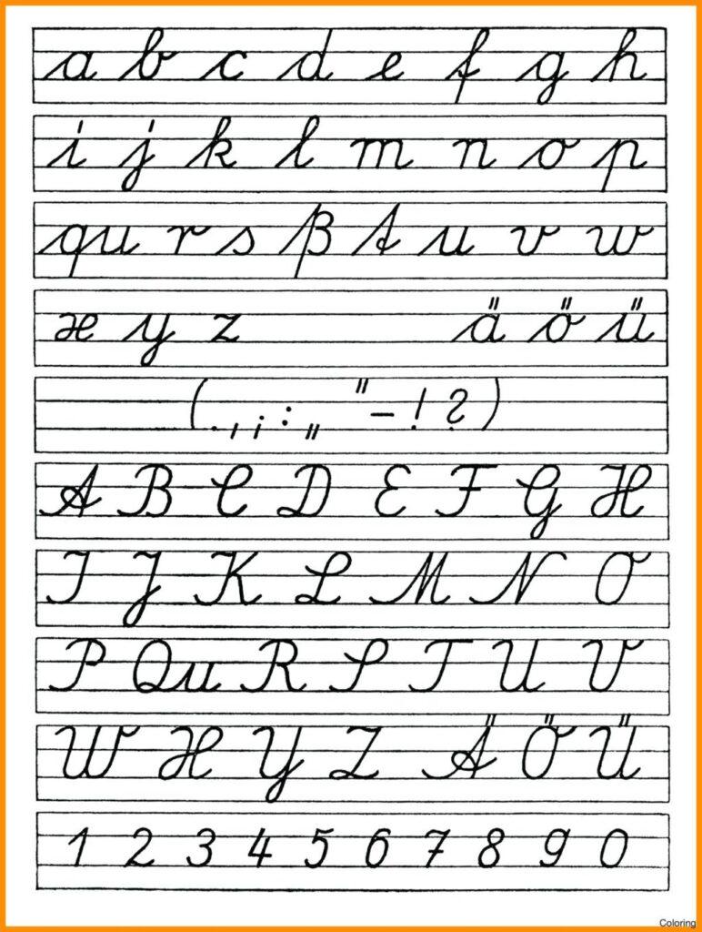 Worksheet ~ Practice Cursive Alphabet