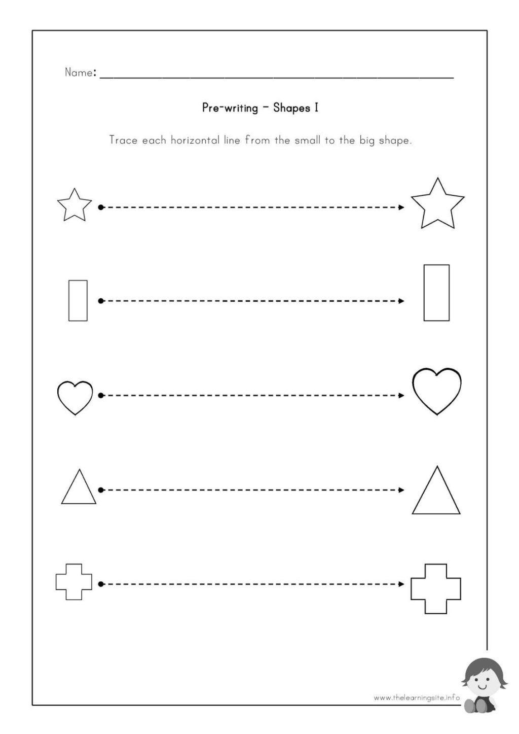 Worksheet ~ Pre Writing Worksheets To Educations Worksheet