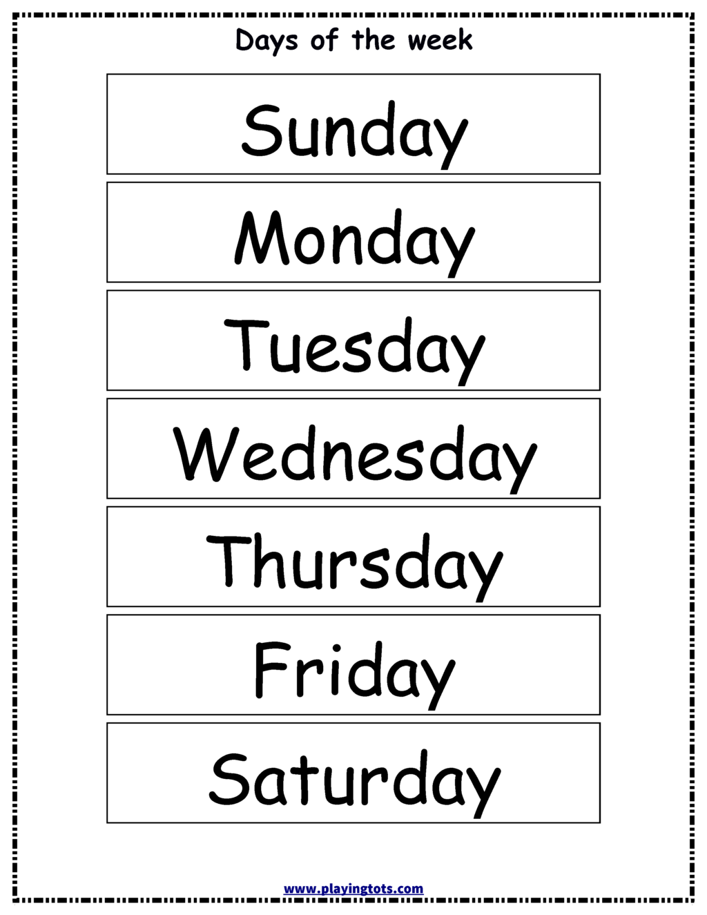 Worksheet ~ Preschool English Worksheets Free Printable Days
