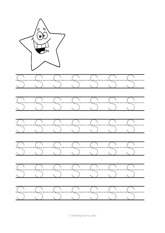 Worksheet ~ Preschool Tracing Letters Worksheet Free in Letter S Tracing Worksheets For Preschool