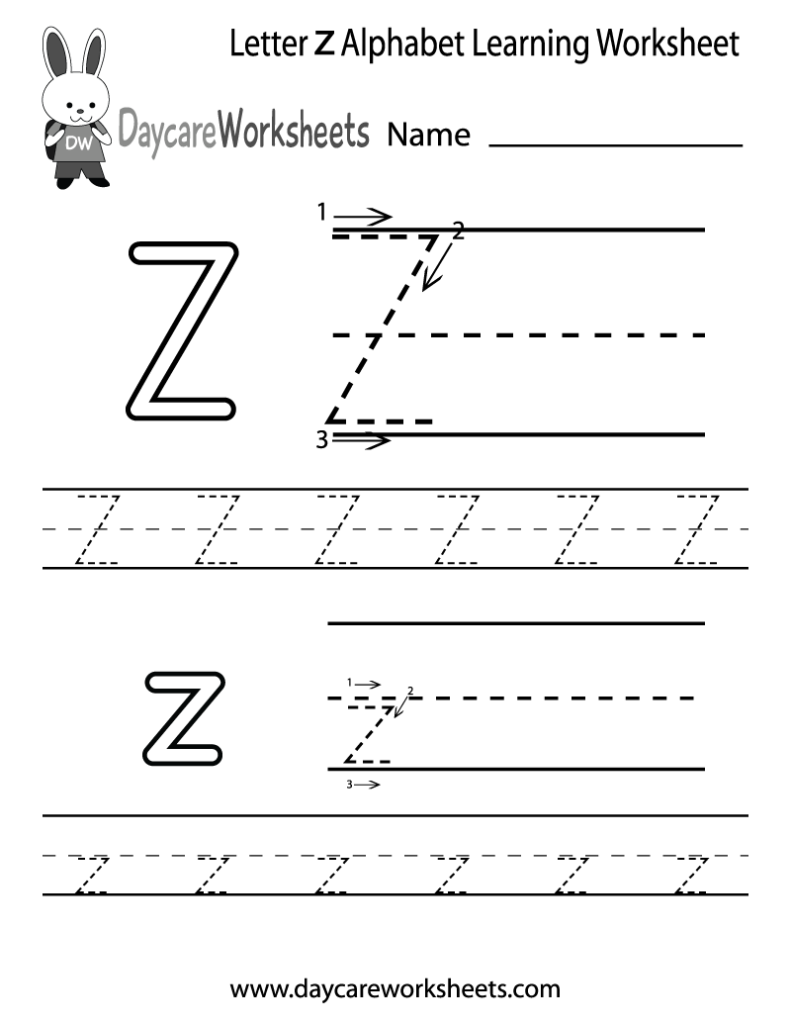 Worksheet ~ Preschool Worksheets Alphabet Free Letter Z Throughout Tracing Letter Z Preschool