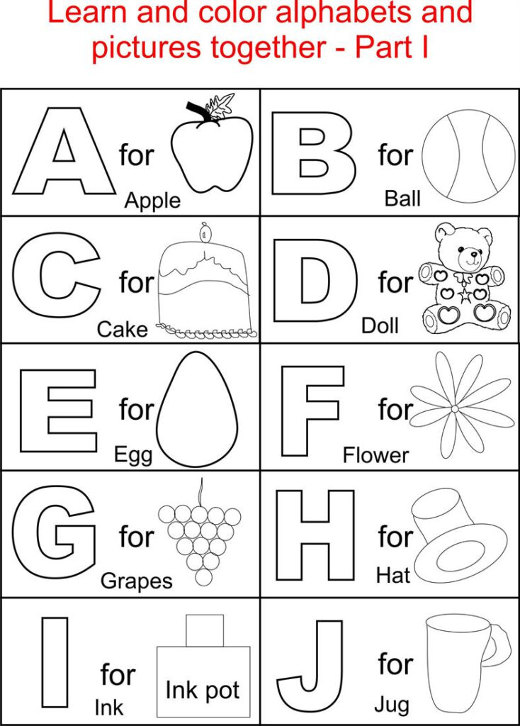 Worksheet ~ Printable Alphabet Sheets Image Inspirations And Pertaining To Alphabet Worksheets To Color