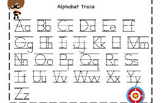 Preschool Tracing Abc Worksheets