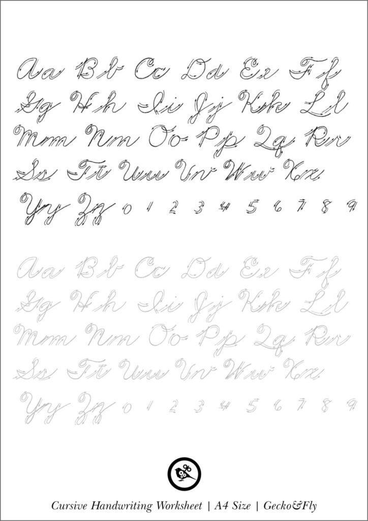 Worksheet ~ Printable Cursive Handwriting Worksheets For
