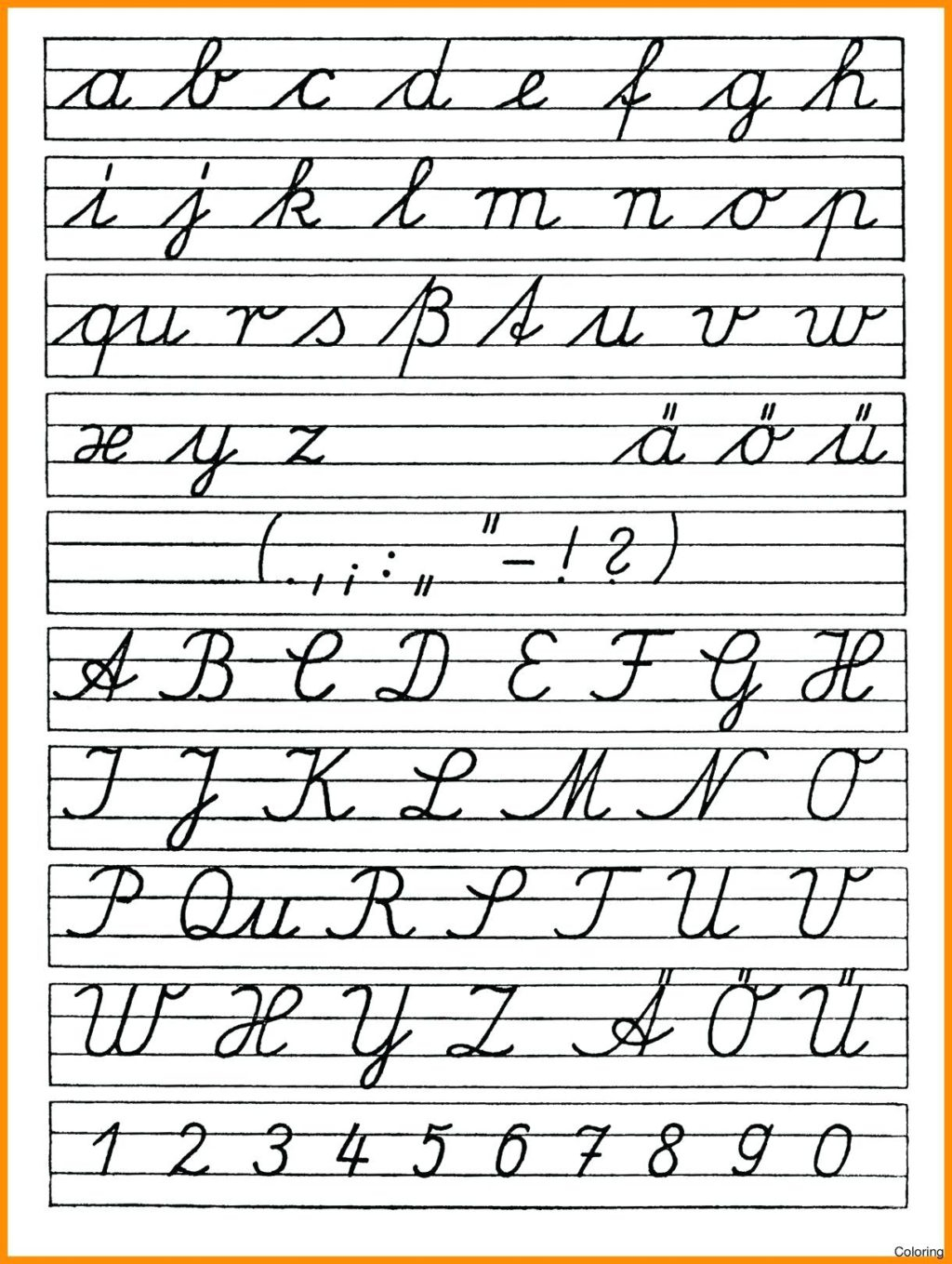 Worksheet ~ Printable Cursive Letters Coloring Pages