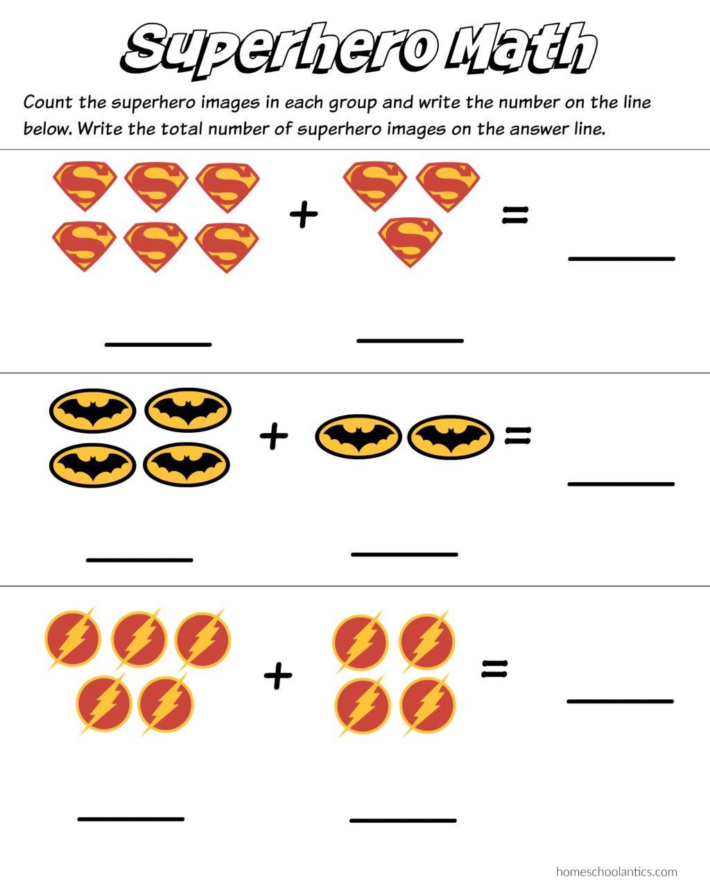 Worksheet ~ Superhero Math Worksheethenomenalrintable