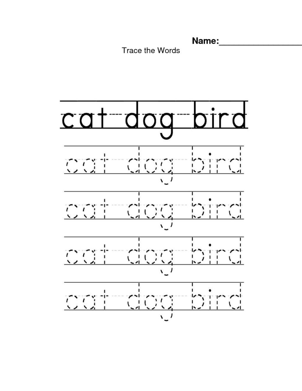 Worksheet ~ Trace Name Worksheets Animals Worksheet Custom