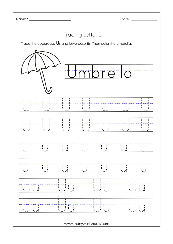 Worksheet ~ Trace Worksheets Photo Inspirations Letter U intended for Letter U Tracing Worksheets Preschool