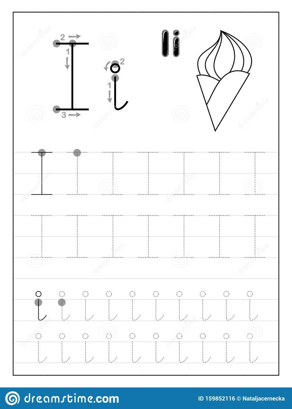 Worksheet ~ Tracing Alphabet Letter I Black White inside Letter L Worksheets Sparklebox